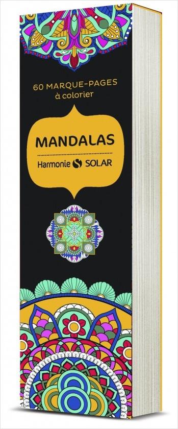 Marque-pages à colorier Harmonie : mandalas