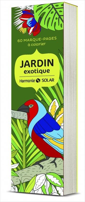 marque-pages à colorier Harmonie: jardins exotiques