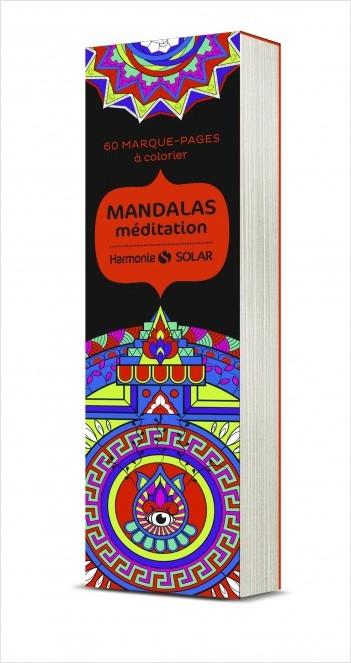 Marque-pages à colorier Harmonie : mandalas méditation