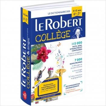 Dictionnaire Le Robert Collège et son dictionnaire en ligne - 11 /15 ans - 6e-5e-4e-3e