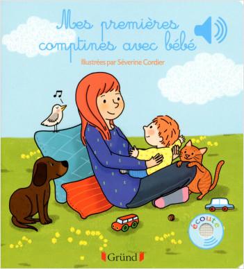 Mes premières comptines avec bébé – Livre sonore avec 6 puces  – Dès 1 an