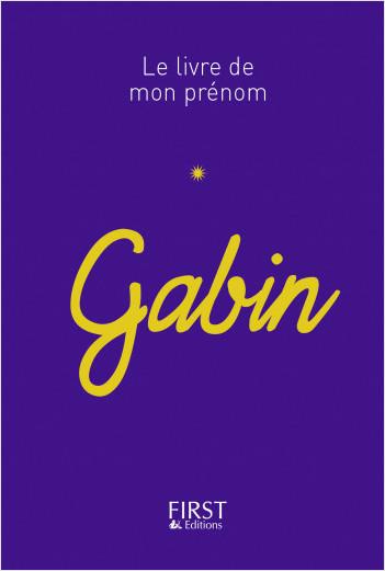 55 Le livre de mon prénom - Gabin