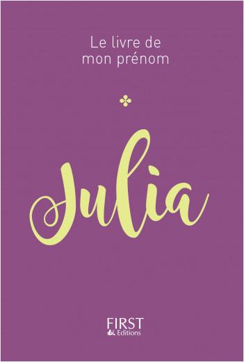 Le livre de mon prénom - Julia