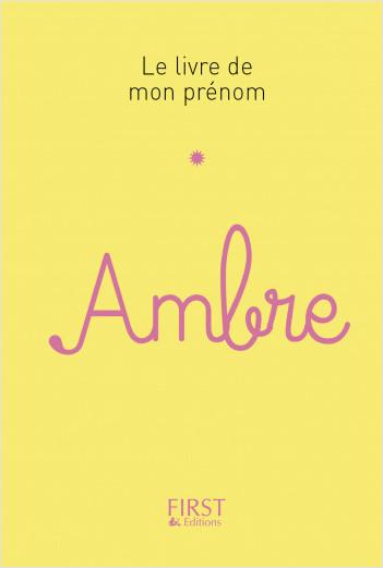Le livre de mon prénom - Ambre