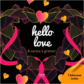 hello love - 6 cartes à gratter