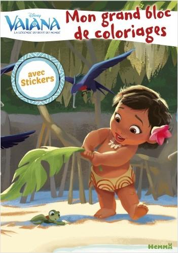 Disney Vaiana - Mon grand bloc de coloriages avec stickers