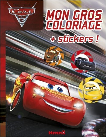 Cars 3 - Mon gros coloriage + stickers !