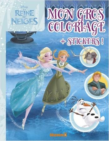 Disney - La Reine des Neiges - Mon gros coloriage + stickers !