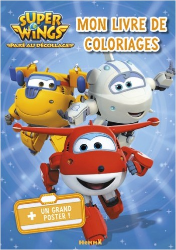 Super Wings - Mon livre de coloriages + un grand poster