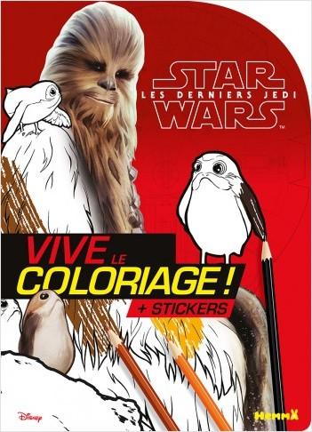 Disney Star Wars - Les Derniers Jedi Ep VIII - Vive le coloriage (Chewie)