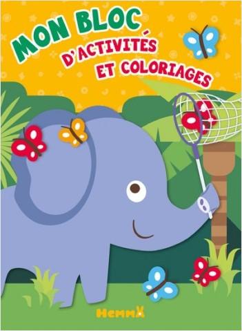 Mon bloc - Activités et coloriages (Éléphant)