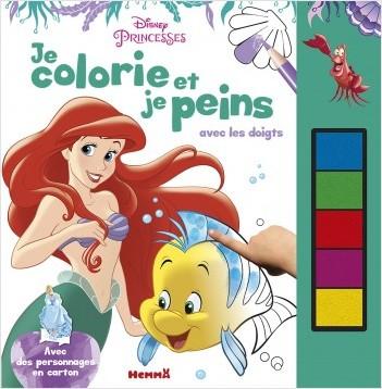 Disney Princesses -Je colorie et je peins avec les doigts