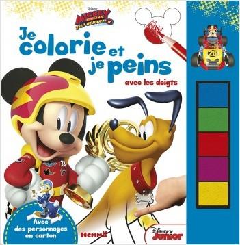 Disney Mickey et ses amis, Top départ - Je colorie et je peins avec les doigts
