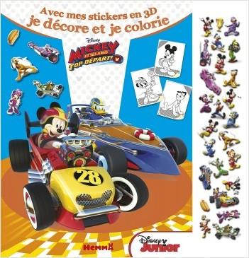 DISNEY MICKEY ET SES AMIS, TOP DEPART - Avec mes stickers en 3D, je décore et je colorie