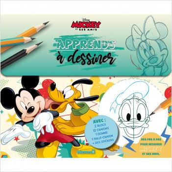 Disney Mickey et ses amis - Apprends à dessiner - Valisette - Tout pour apprendre à dessiner - Dès 6 ans