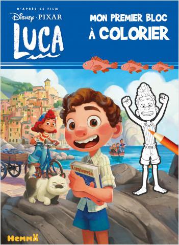 Disney Pixar Luca – Mon premier bloc à colorier – Livre de coloriage – Dès 3 ans