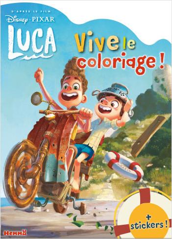 Disney Pixar Luca – Vive le coloriage ! – Livre de coloriage avec stickers – Dès 4 ans