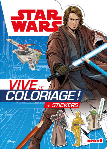 Disney Star Wars – Anakin - Vive le coloriage ! – Livre de coloriage avec stickers – Dès 5 ans