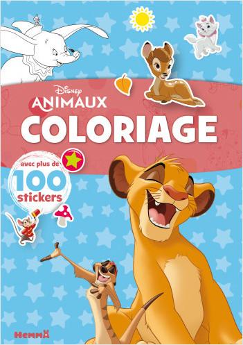 Disney Animaux – Coloriage avec plus de 100 stickers – Livre de coloriage avec stickers – Dès 4 ans