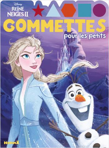 Disney La Reine des Neiges 2 – Gommettes pour les petits – Elsa et Olaf – Livre de gommettes – Dès 4 ans