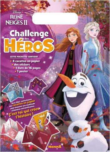 Disney La Reine des Neiges 2 - Challenge des héros - Pochette - Activités de jeux et pliages - Dès 6 ans