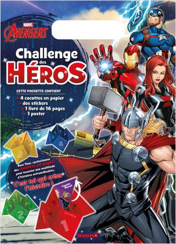 Disney Marvel Avengers - Challenge des héros - Pochette - Activités de jeux et pliages - Dès 6 ans