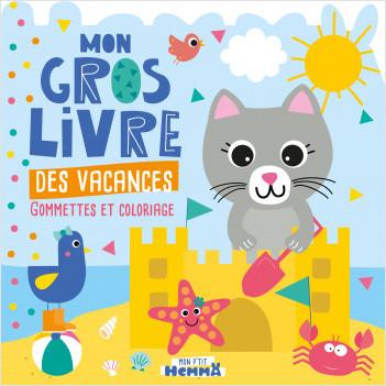 Mon P'tit Hemma - Mon gros livre des vacances - Gommettes à placer dans des décors, coloriages et stickers - Dès 3 ans