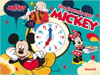 Disney Mickey et ses amis - Une journée avec Mickey - Livre horloge tout-carton - Dès 3 ans