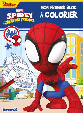 Marvel Spidey et ses amis extraordinaires – Mon premier bloc à colorier – Livre de coloriage – Dès 3 ans