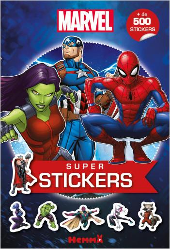 Marvel -  Super stickers - Bloc de coloriages avec stickers - Dès 5 ans