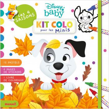 Disney Baby - Kit colo pour les Minis - Les 4 saisons - Kit de coloriage avec pastels - Dès 3 ans