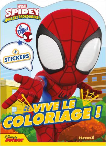 Marvel Spidey et ses amis extraordinaires – Vive le coloriage ! – Livre de coloriage avec stickers – Dès 4 ans