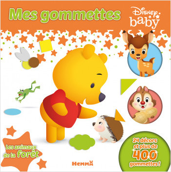 Disney Baby - Mes gommettes - Les animaux de la forêt - Livre de gommettes - Dès 3 ans