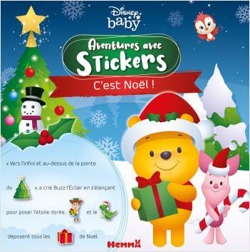 Disney Baby – Aventures avec stickers – C'est Noël ! – Livre d'histoires avec stickers – Dès 3 ans