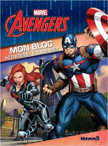 Marvel Avengers - Mon bloc - Activités et coloriages - Bloc d'activités et de coloriages - Dès 5 ans