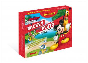 Disney Mickey et ses amis - Escape Box - Mickey et Pluto mènent l'enquête ! - Escape game enfant - Dès 5 ans
