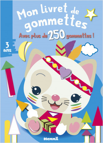 Mon livret de gommettes - + de 250 gommettes - Chat blanc - Livret de gommettes - Dès 3 ans