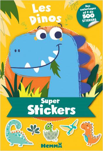 Super stickers - Les dinos - Bloc de plus de 500 stickers et 30 coloriages - Dès 5 ans