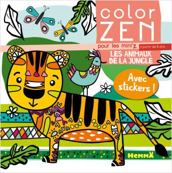 Color Zen pour les mini'z - Les animaux de la jungle - Livre de coloriage détente - Dès 4 ans