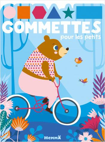 Gommettes pour les petits - Ours à vélo - Livre de gommettes - Dès 3 ans