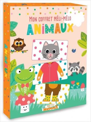 Mon P'tit Hemma - Mon coffret méli-mélo - Animaux - Des cartes animaux à mélanger et à assembler - Boîte de jeux - Dès 3 ans