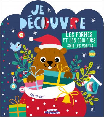 Mon P'tit Hemma - Je découvre les formes et les couleurs sous les volets - Noël - Livre tout carton silhouetté avec volets à soulever - Dès 3 ans