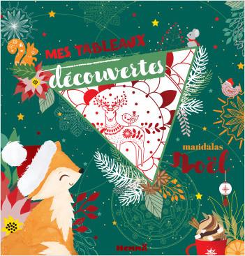 Mes tableaux découvertes - Mandalas Noël - Tableaux à colorier avec finition rouge brillant - dès 7 ans