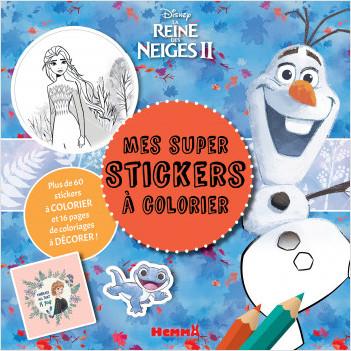Disney La Reine des Neiges 2 - Mes super stickers à colorier - Bloc de stickers à colorier - Dès 4 ans