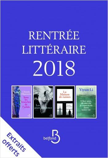 Rentrée littéraire Belfond Etranger 2018 extraits