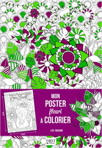 Mon poster fleuri à colorier