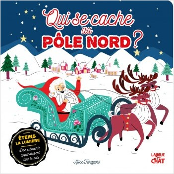 Qui se cache au Pôle Nord ? - Livre-jeu cherche et trouve encre phosphorescente - Animaux Noël - Dès 2 ans