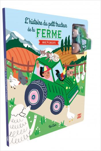 Mes beaux circuits - L'histoire du petit tracteur de la ferme - Livre jeu avec un véhicule en bois -  Dès 18 mois