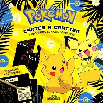 Pokémon - Cartes à gratter avec des infos sur les Pokémon