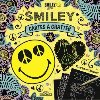 Smiley - Cartes à gratter - Peace and Love